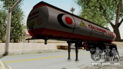 Trailer de Conbustible para GTA San Andreas vista posterior izquierda