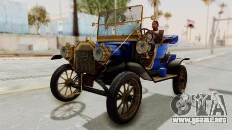 Ford T 1912 Open Roadster v2 para la visión correcta GTA San Andreas