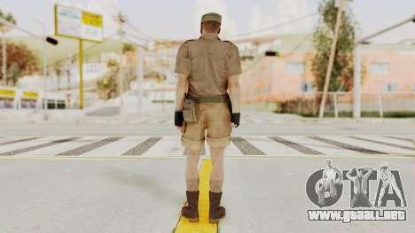 MGSV Phantom Pain CFA Soldier v2 para GTA San Andreas tercera pantalla