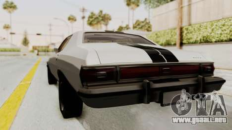 Ford Gran Torino 1975 para GTA San Andreas vista posterior izquierda