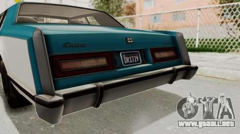 GTA 5 Dundreary Virgo Classic IVF para vista lateral GTA San Andreas