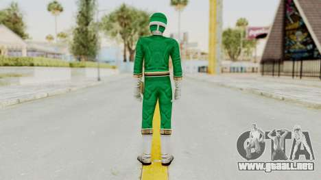 Power Rangers Lightspeed Rescue - Green para GTA San Andreas tercera pantalla