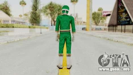 Power Rangers Lightspeed Rescue - Green para GTA San Andreas tercera pantalla