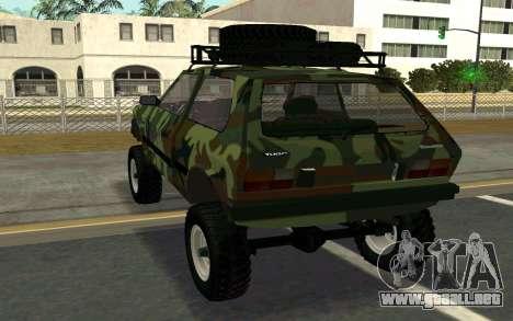 Zastava Yugo para GTA San Andreas vista posterior izquierda