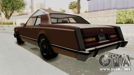 GTA 5 Dundreary Virgo Classic para GTA San Andreas left