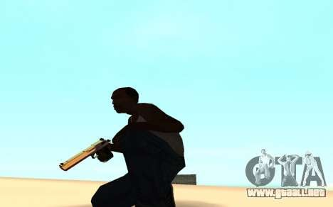 Desert eagle gradient para GTA San Andreas segunda pantalla