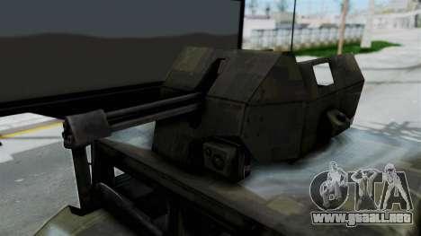 Humvee M1114 Woodland para GTA San Andreas vista hacia atrás