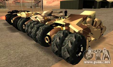 Army Tumbler Gun Tower from TDKR para visión interna GTA San Andreas