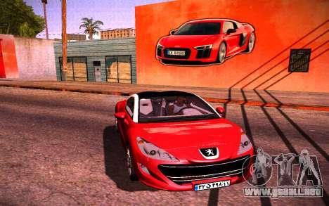 Audi R8 Wall Grafiti para GTA San Andreas segunda pantalla