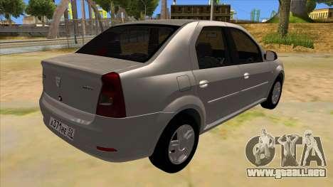 Dacia Logan para la visión correcta GTA San Andreas
