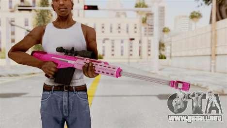 GTA 5 Heavy Sniper Pink para GTA San Andreas tercera pantalla