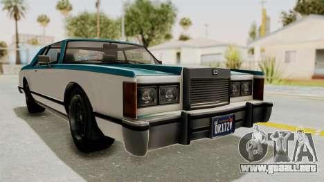 GTA 5 Dundreary Virgo Classic IVF para GTA San Andreas vista posterior izquierda