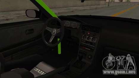 Nissan Skyline R33 Drift Monster Energy Falken para visión interna GTA San Andreas