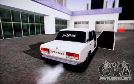 VAZ 2107 FIV para GTA San Andreas left