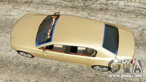 GTA 5 Bentley Continental Flying Spur 2010 vista trasera