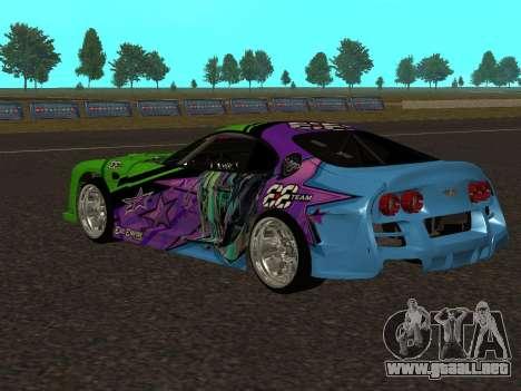Toyota Supra Evil Empire para GTA San Andreas vista posterior izquierda