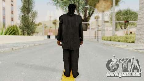 Taher Shah Black Suit para GTA San Andreas tercera pantalla