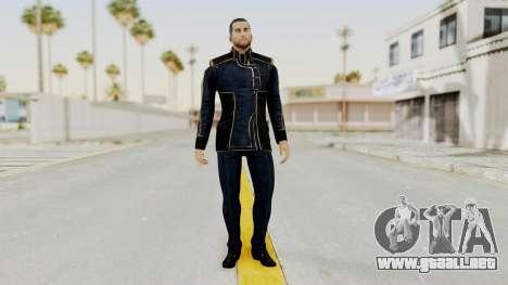 Mass Effect 3 Shepard Formal Alliance Uniform para GTA San Andreas segunda pantalla