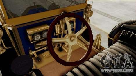 Ford T 1912 Open Roadster v2 para visión interna GTA San Andreas
