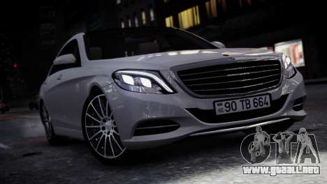Mercedes-Benz w222 para GTA 4 Vista posterior izquierda
