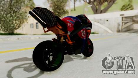 Honda CBR1000RR Mini para GTA San Andreas left