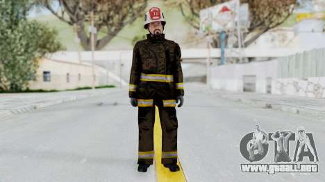 GTA 5 Fireman SF para GTA San Andreas segunda pantalla