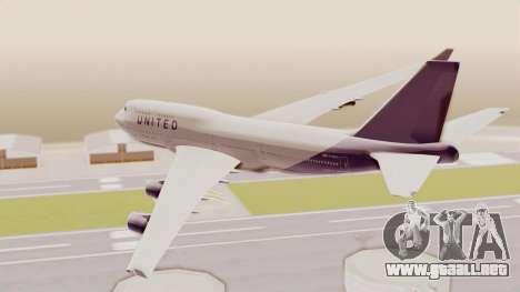 Boeing 747-400 United Airlines para la visión correcta GTA San Andreas