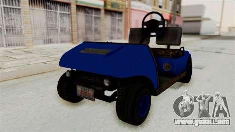GTA 5 Gambler Caddy Golf Cart IVF para la visión correcta GTA San Andreas