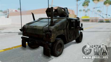 Humvee M1114 Woodland para GTA San Andreas left
