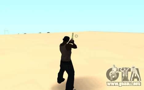 Desert eagle gradient para GTA San Andreas tercera pantalla
