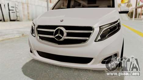 Mercedes-Benz V-Class 2015 para la vista superior GTA San Andreas
