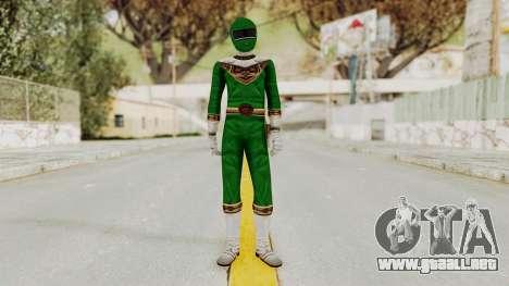 Power Ranger Zeo - Green para GTA San Andreas segunda pantalla