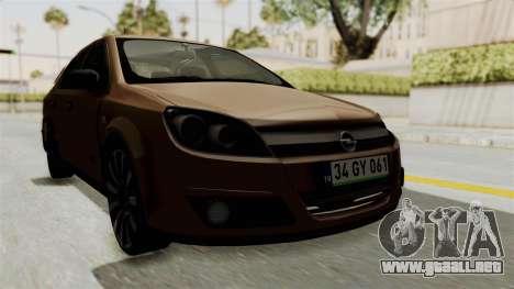 Opel Astra Sedan 2011 para la visión correcta GTA San Andreas