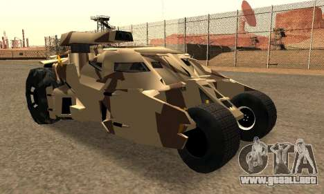 Army Tumbler Gun Tower from TDKR para vista lateral GTA San Andreas