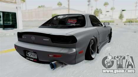 Mazda RX-7 FD3S HellaFlush para GTA San Andreas left