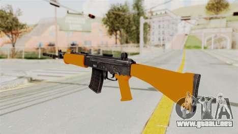 IOFB INSAS Plastic Orange Skin para GTA San Andreas segunda pantalla