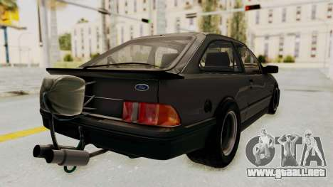 Ford Sierra Mk1 Drag Version para GTA San Andreas left