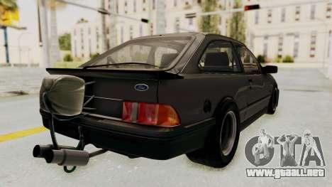 Ford Sierra Mk1 Drag Version para GTA San Andreas left