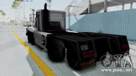 Roadtrain 8x8 v1 para GTA San Andreas left