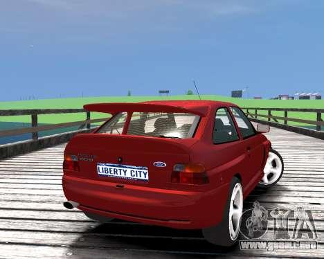 Ford Escort RS Cosworth para GTA 4 left