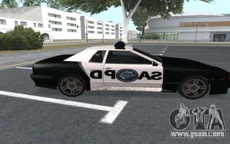 Elegy SAPD para GTA San Andreas vista posterior izquierda