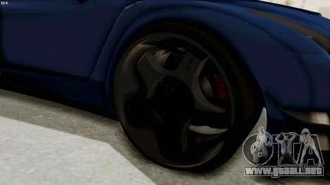 GTA 5 Annis Elegy Twinturbo Spec para GTA San Andreas vista hacia atrás