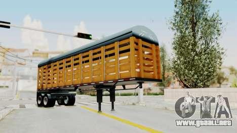 Trailer de Estacas para GTA San Andreas vista posterior izquierda