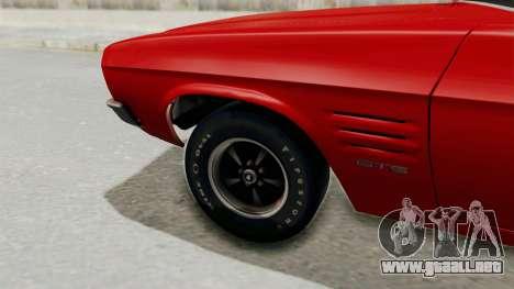Holden Monaro GTS 1971 SA Plate IVF para GTA San Andreas vista hacia atrás