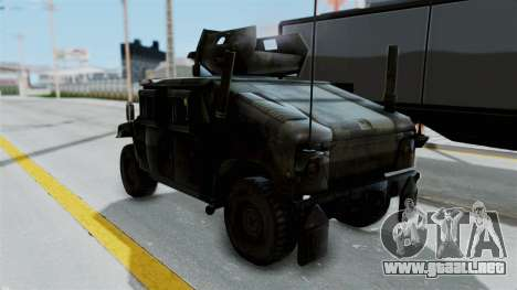 Humvee M1114 Woodland para GTA San Andreas vista posterior izquierda