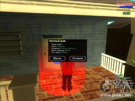 Fichas de hogares para la ARP para GTA San Andreas quinta pantalla