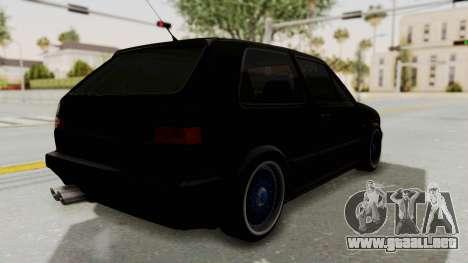 Volkswagen Golf 2 GTI para GTA San Andreas vista posterior izquierda