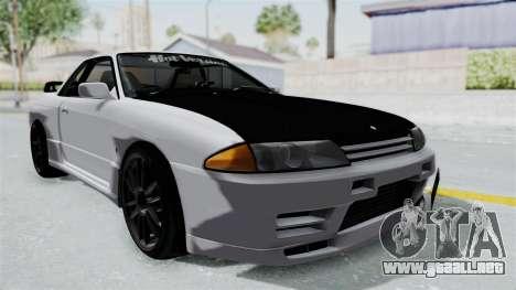 Nissan Skyline BNR32 Hot Version para la visión correcta GTA San Andreas