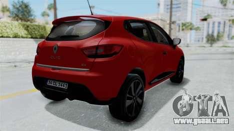 Renault Clio 4 HQLM para la visión correcta GTA San Andreas