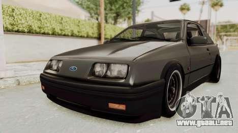 Ford Sierra Mk1 Drag Version para la visión correcta GTA San Andreas